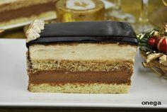 Tarta mousse de chocolate y crema de turrón