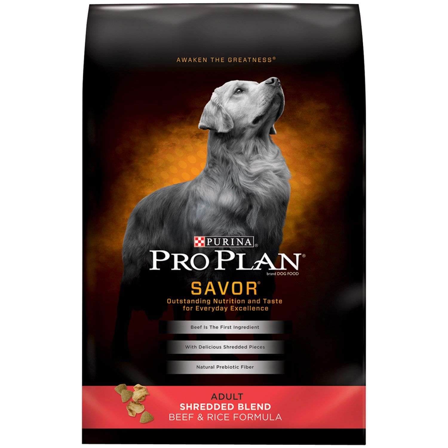 Purina Pro Plan Savor Shredded Blend Beef Rice Adult Dog Food
