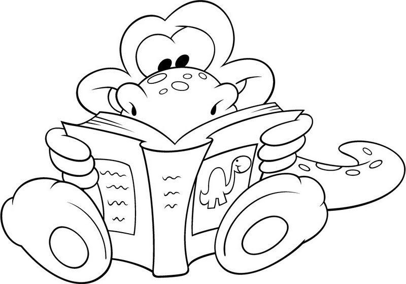 Día del libro, dibujos para colorear del 23 de abril para niños ...