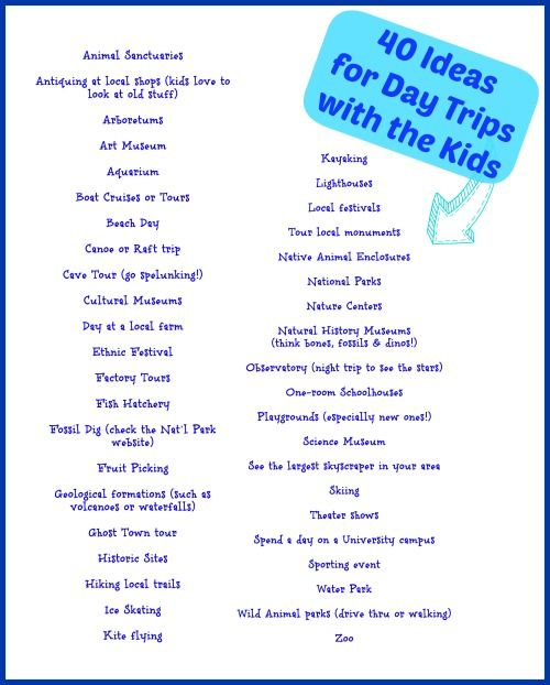 40 Fun Places To Take Kids Near Me Free Printables