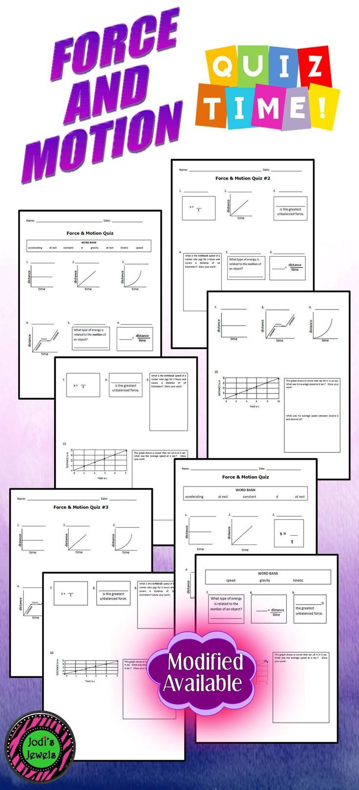 Quiz basic understanding of introductory force and motion vocab and quiz basic understanding of introductory force and motion vocab and motion graphs with these quizzes by jodis jewels modified version is also ava ccuart Images