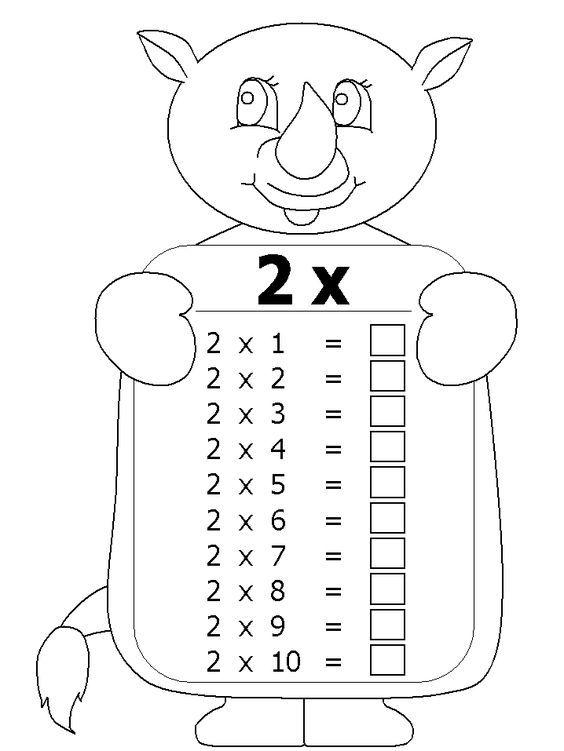 Carpimtablosu Matematik Matematikboyama Carpma Matematik