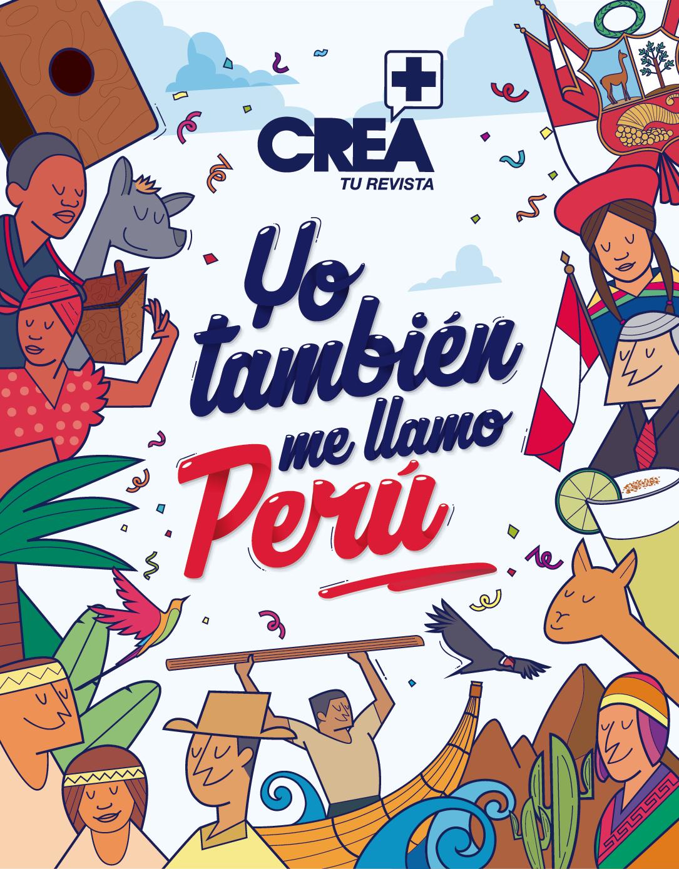 Arte Vectorial Trabajado Para La Revista Crea Mas Por Motivo De Las Fiestas Peruvian Art Peru Map Peru