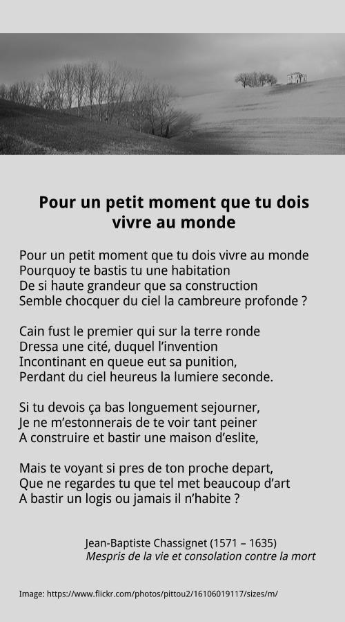 Pour Un Petit Moment Que Tu Dois Vivre Au Monde Poeme Romantique Texte Poetique Poesie Francaise