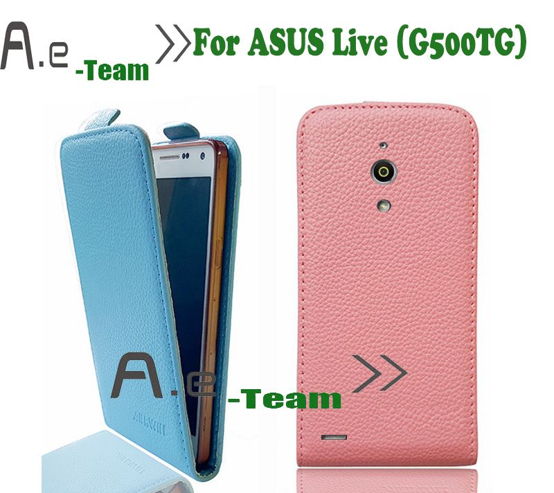 Aierwill-New Top Quality Luxury Retro PU Leather Flip case For ASUS Live (G500TG) Open Down and Up Vertical Flip Back Cover Price: USD 5.99 | UnitedStates