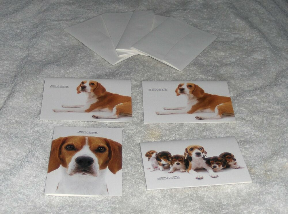Artlist Breed Specific Dog Greeting Cards 4 Beagle Breed Note