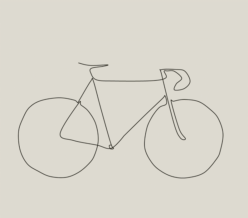 Picasso Line Drawing Tattoo : Picasso inspired bike drawing the paceline forum tats