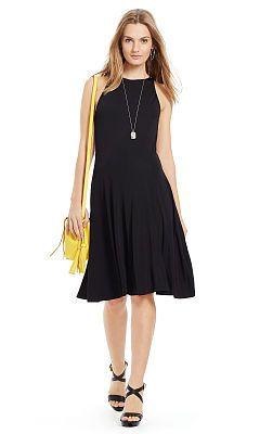 Sleeveless Fit-and-Flare Dress - Polo Ralph Lauren Short - RalphLauren.com