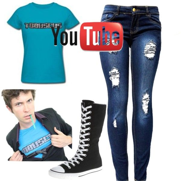 tobuscus by courtneyhall949 on Polyvore featuring polyvore fashion style Converse American Apparel