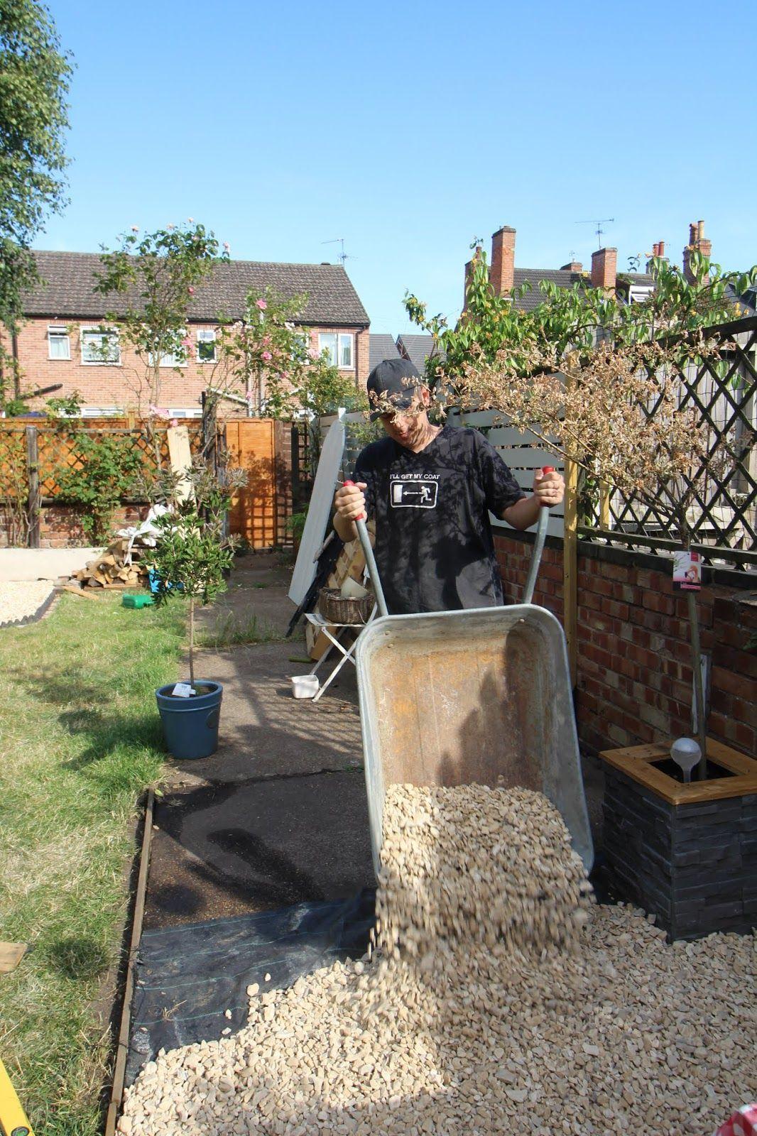 Laying Gravel In the Garden - Kezzabeth | DIY & Renovation ...