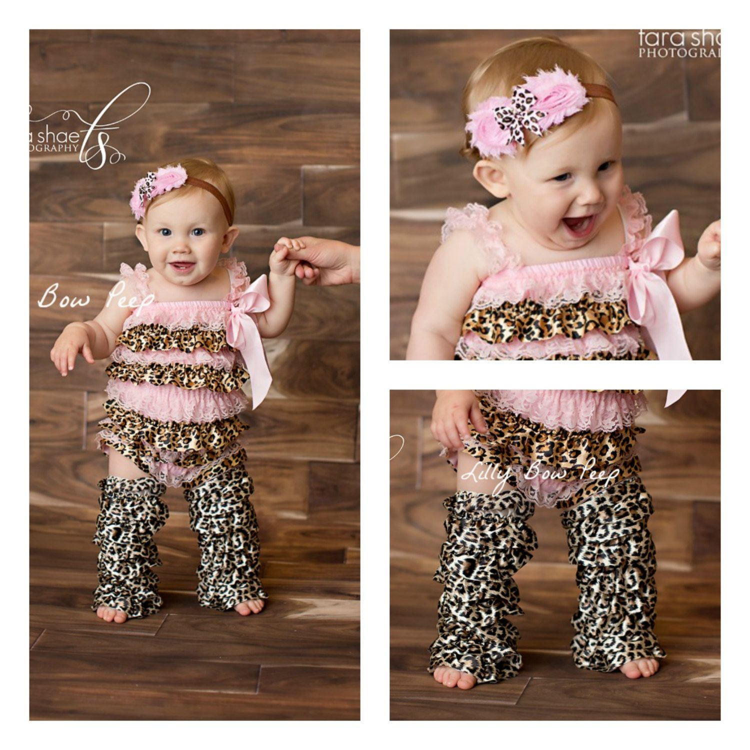 71430f6e6515 Baby Girl ClothesPink Leopard Lace Petti Romper   by LillyBowPeep ...