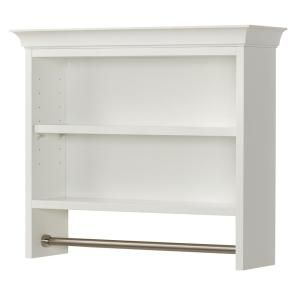 Home Decorators Collection Creeley 7 1 20 In L 20 1 2 In H X 24 In W Wall Mount 2 Tier Bathroom Shelf With Towel B Shelves Room Shelves Bathroom Wall Shelves
