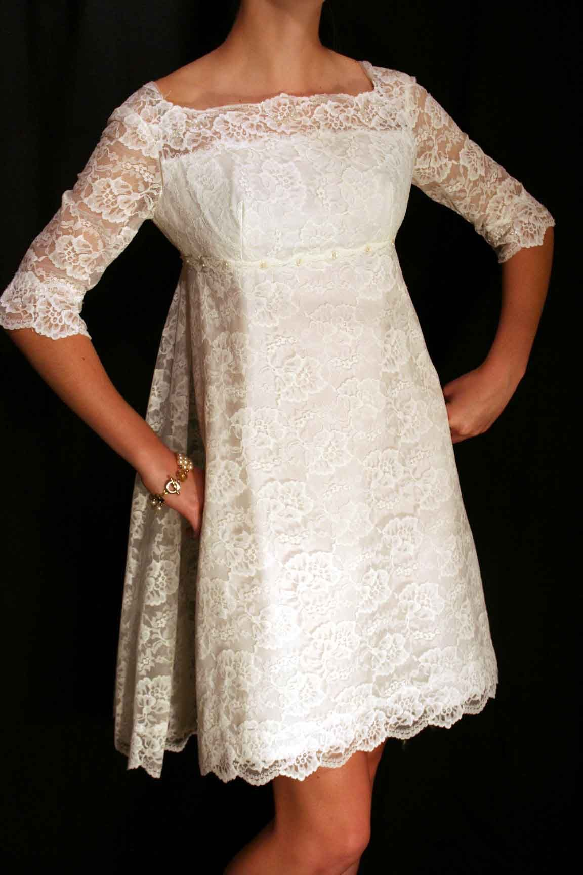 vintage 1960's wedding dress (probably handmade) 1960s