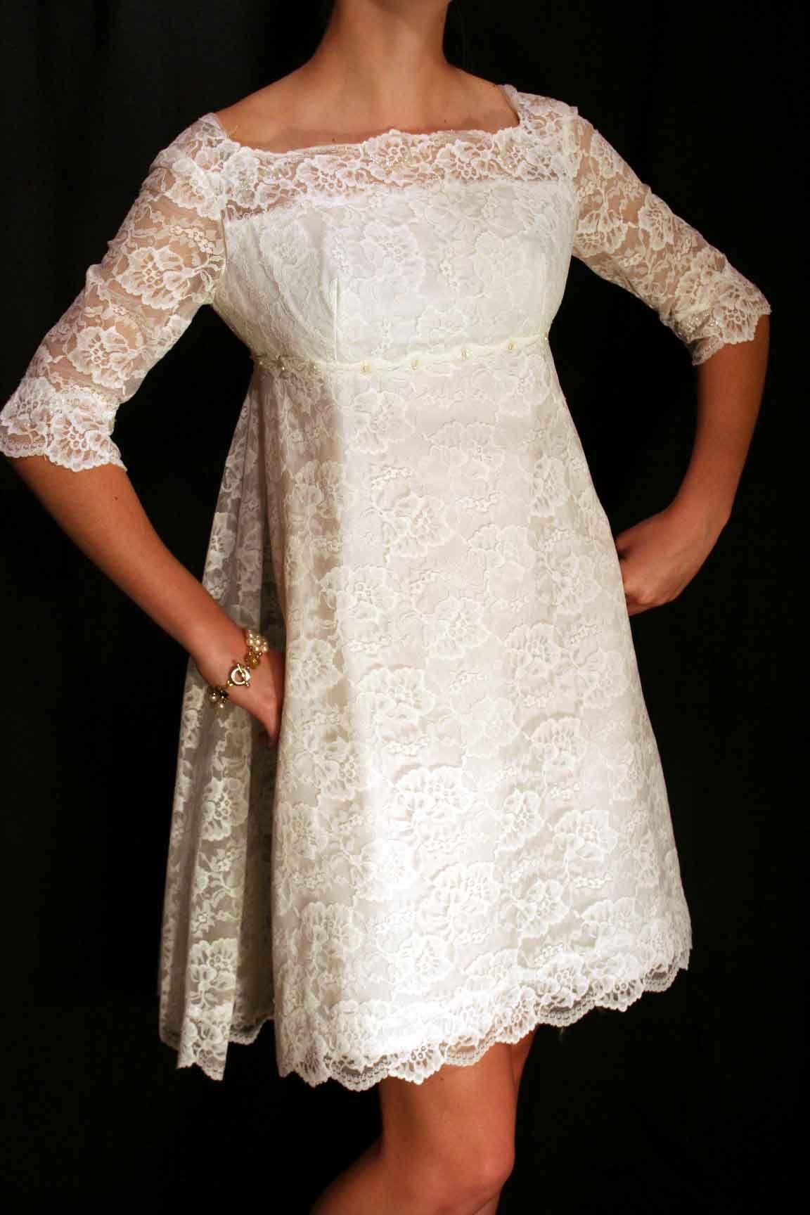 vintage 1960's wedding dress (probably handmade) 1960s