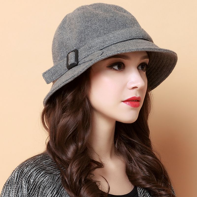 Bow trilby bowler hat for winter womens hats  4f544376928