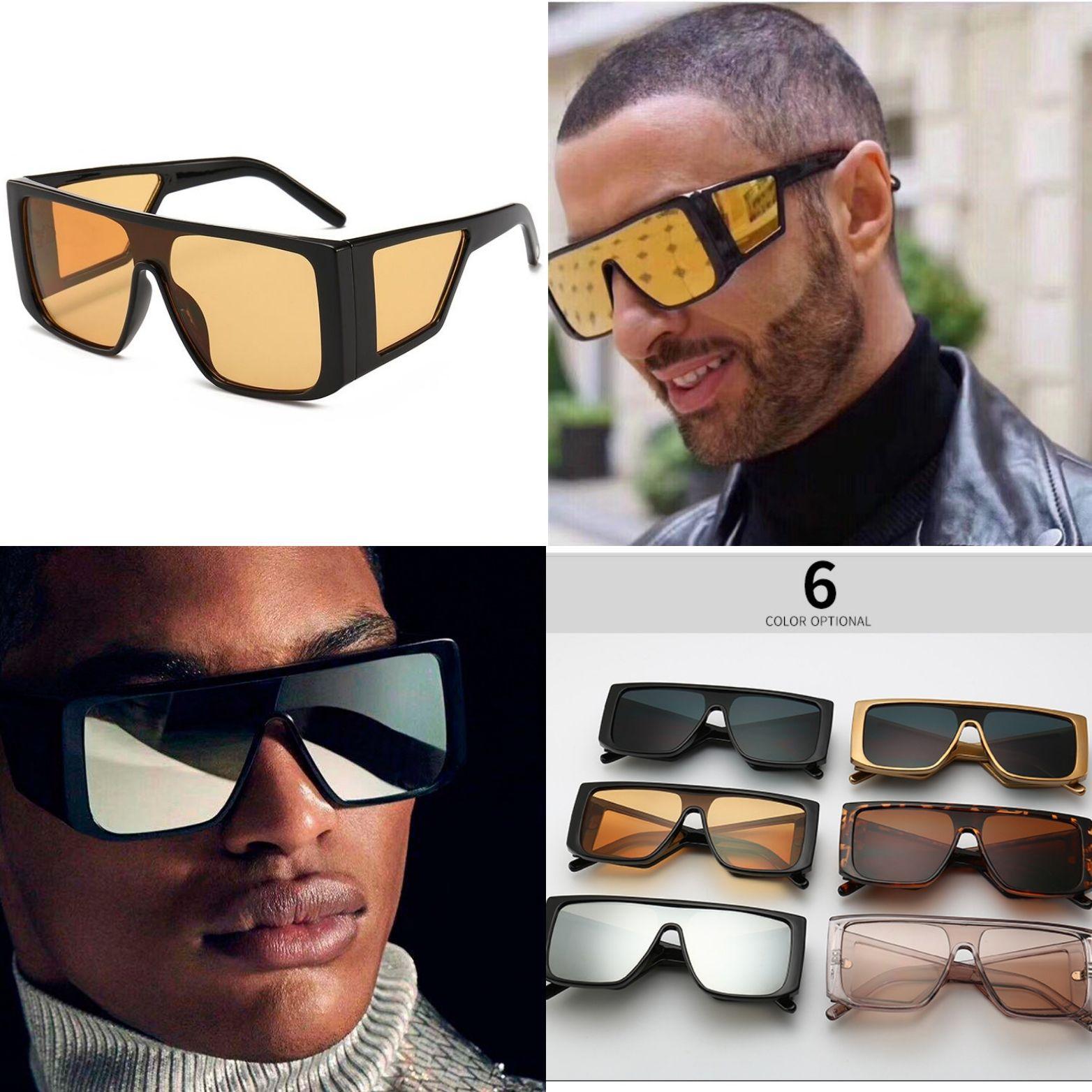c47e12af337 HBK Big Frame Square Sunglasses Men Oversized Fashion Sun Glasses for Women  High Quality Sport Gafa oculos de sol feminino UV400