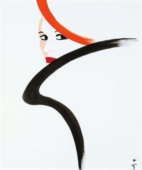 Profil-Années by Rene Gruau | Blouin Art Sales Index