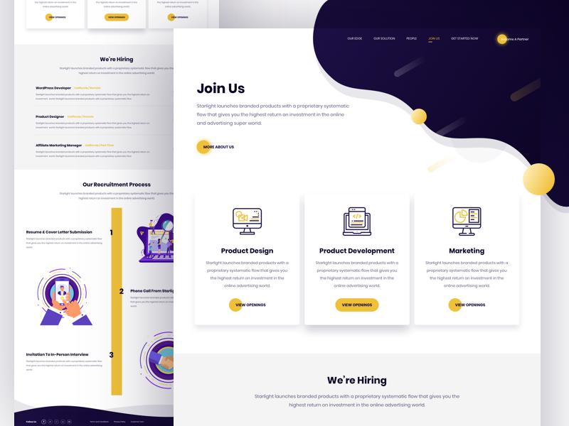 Careers Page Design Recruitment Website Design Page Design Design