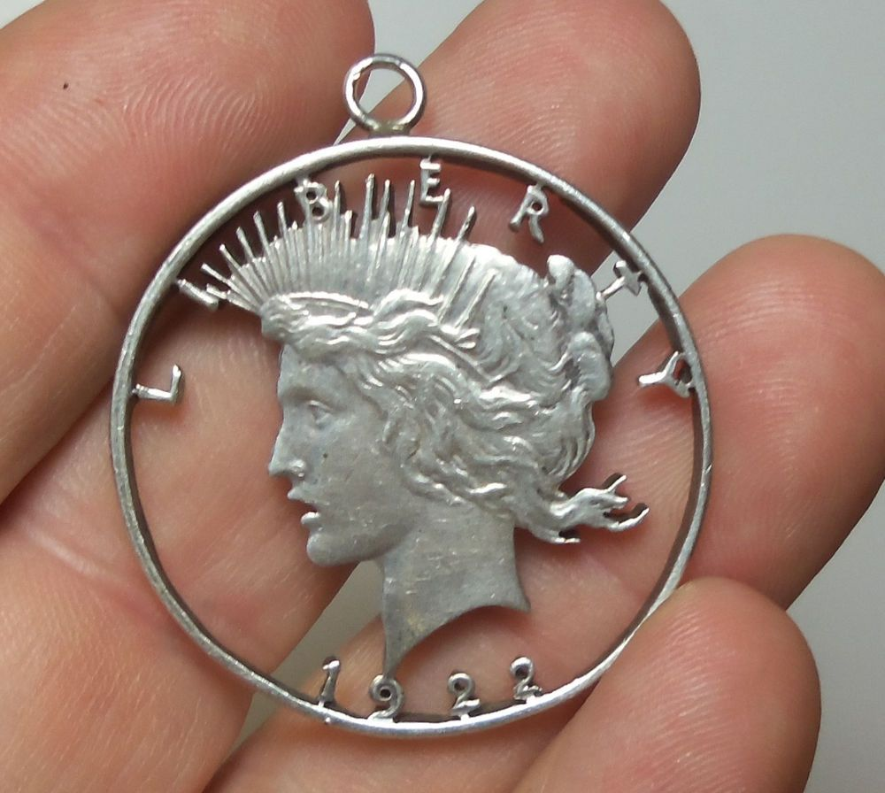 1922 peace 90 silver dollar 1 coin cut out liberty pendant 1922 peace 90 silver dollar 1 coin cut out liberty pendant detailed mozeypictures Choice Image