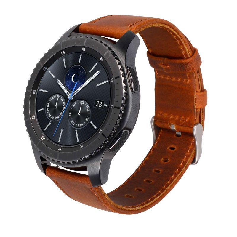 Lederen Band Voor Samsung Gear S3 Smart Watch Band Vervanging Horloge Armband Voor Gear S3 Classic Frontier Smart Watch Samsung Watches Leather Leather Straps