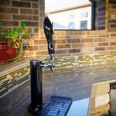 Beer Tap In Kitchen Countertop Kitchen Countertops Beer Taps