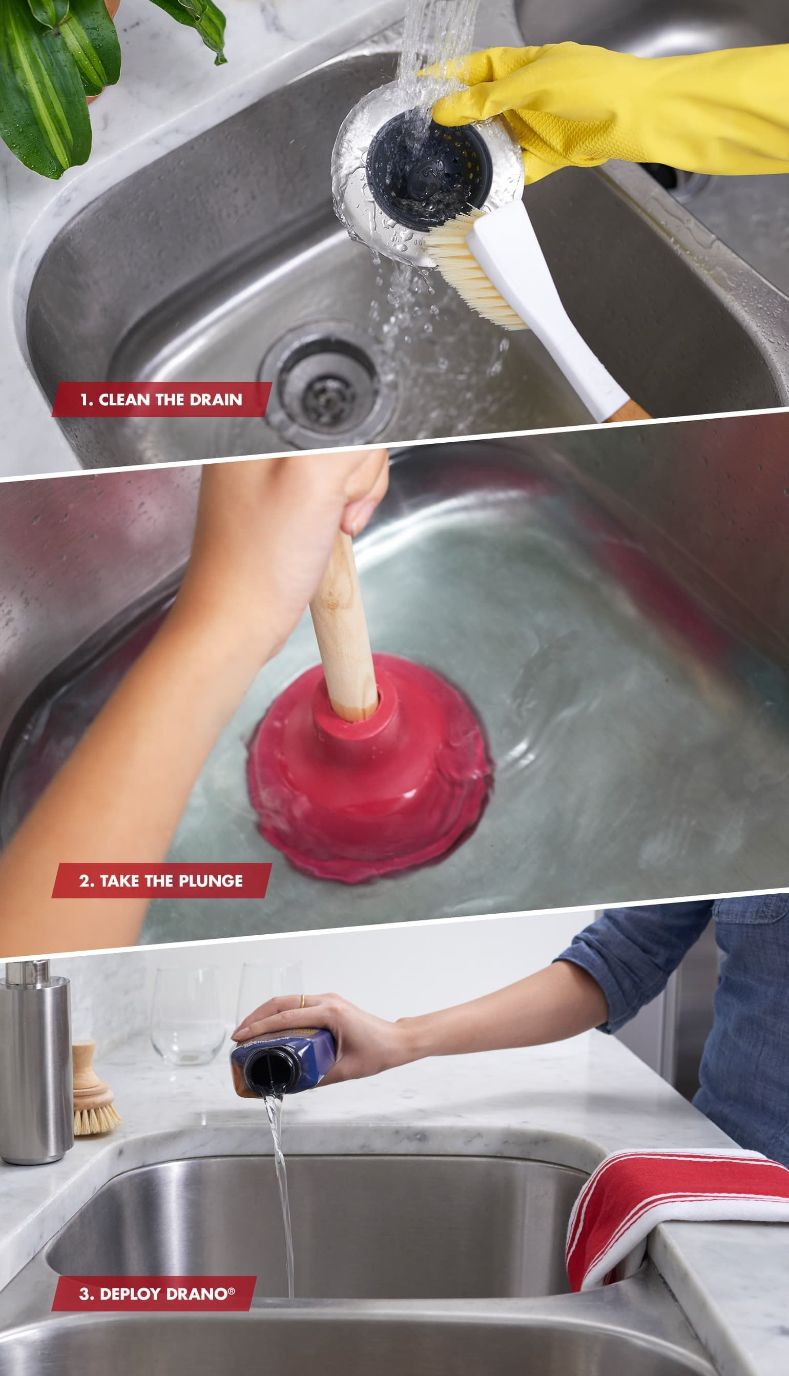 How to unclog your kitchen sink in 3 steps unclog