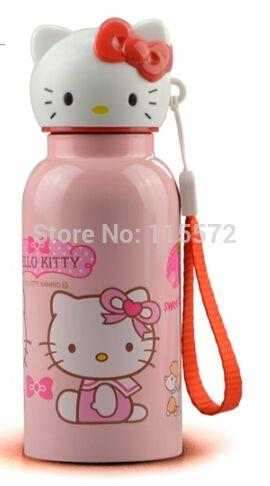 e0b925307 Water Bottle · Pour Over Kettle · Deporte · 260 ml grátis frete Kid  desenhos animados olá Kitty garrafa térmica de vácuo garrafa xícara de