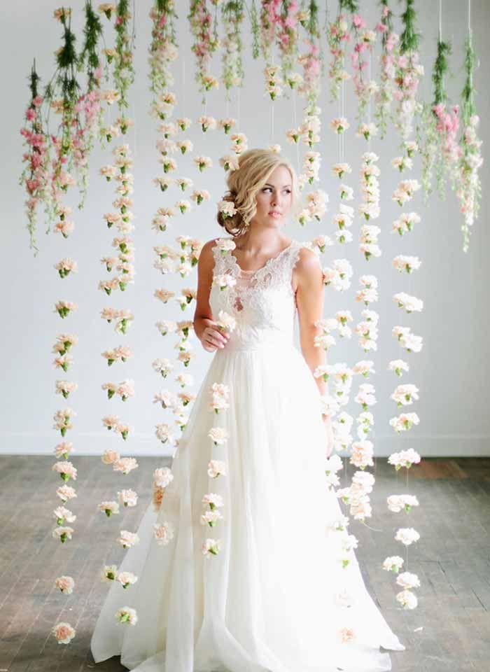 Inspiração: Cortina de flores | Wedding, Wedding and Wedding dress