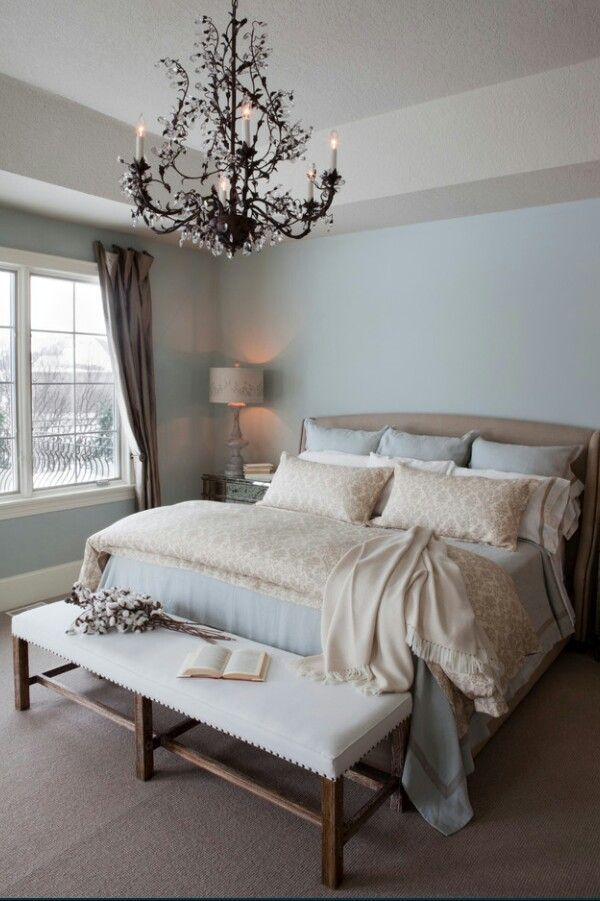 light blue and brown bedroom ideas