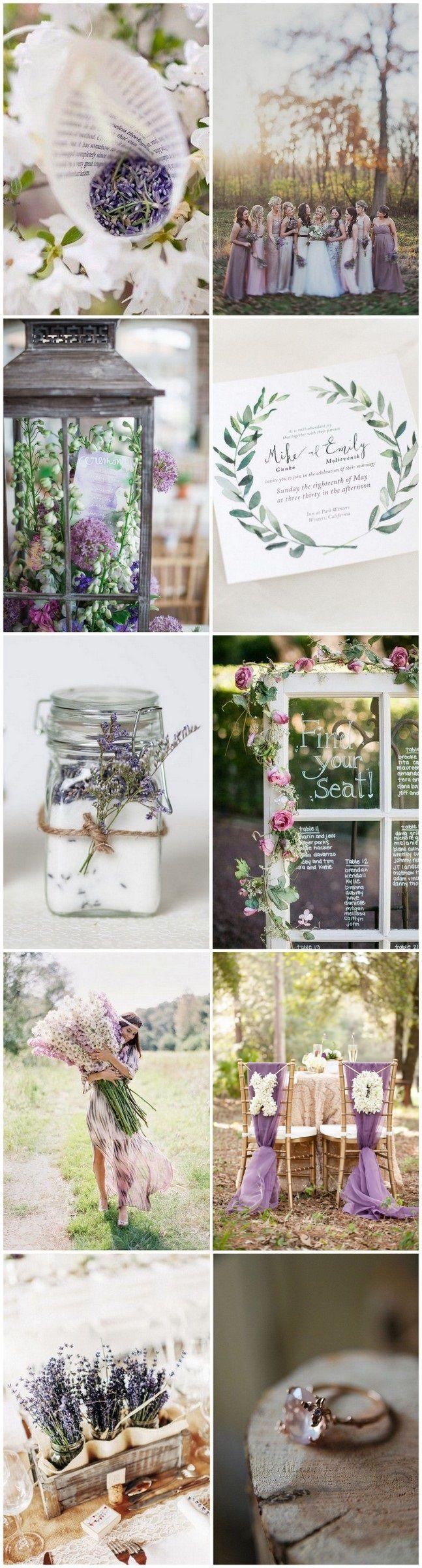 Dreamy Lavender Garden Wedding Inspiration | Garden weddings ...