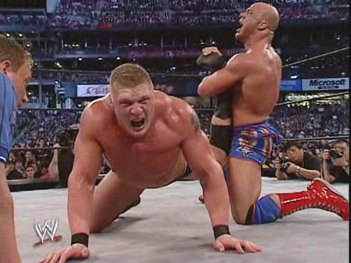 Brock Lesnar Vs Kurt Angle Wwf Superstars Professional Wrestling Wwf