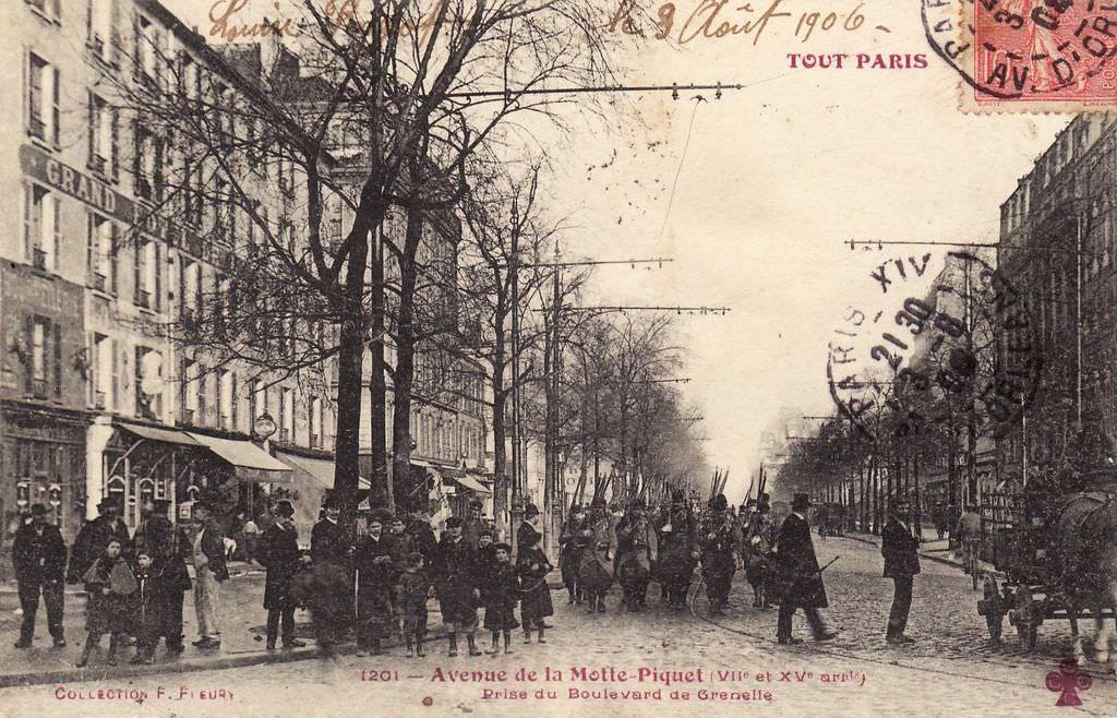 Avenue De La Motte Piquet Vii Et Xv Arrt Prise Du Boulevard De Grenelle Vieux Paris Photos Anciennes