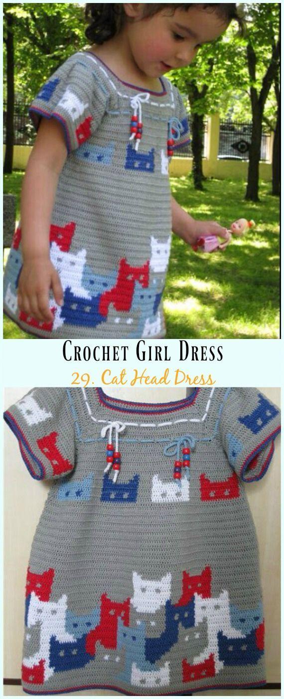 Cat Head Dress Crochet Free Pattern  Girl Free Patterns