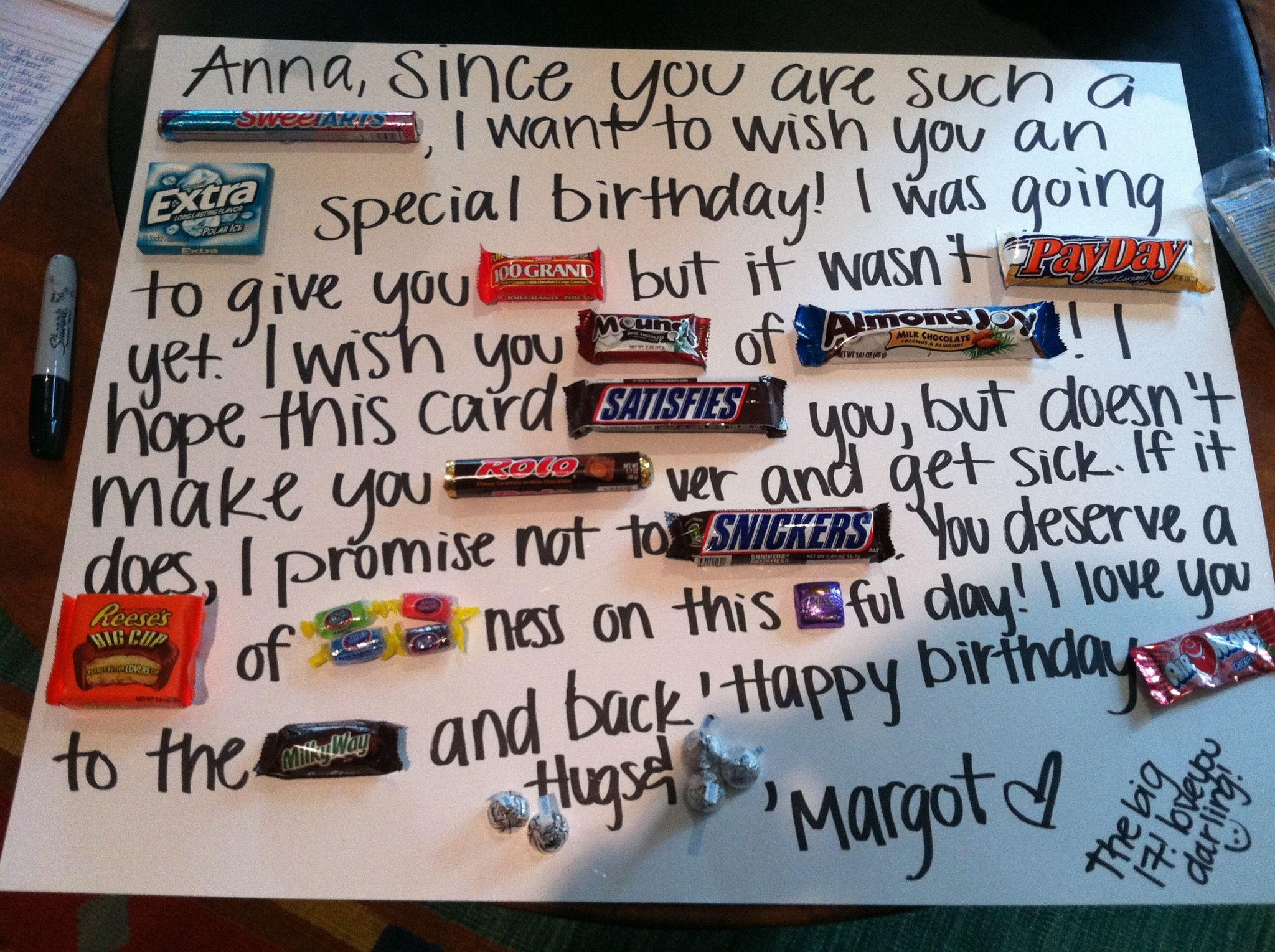 Birthday Cards For Teachers Ideas ~ Candy card craft ideas pinterest candy cards gift and birthdays