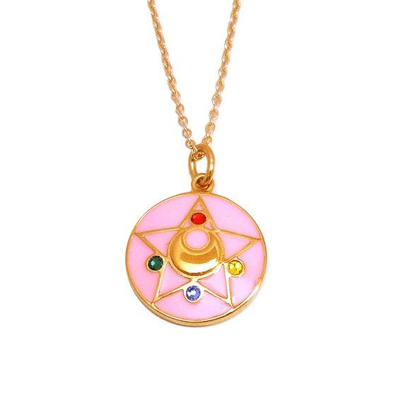 Premium Bandai Sailor Moon R Crystal Star pendant (colour)! More info and shoppings links here http://www.moonkitty.net/reviews-buy-sailor-moon-jewelry.php #SailorMoon