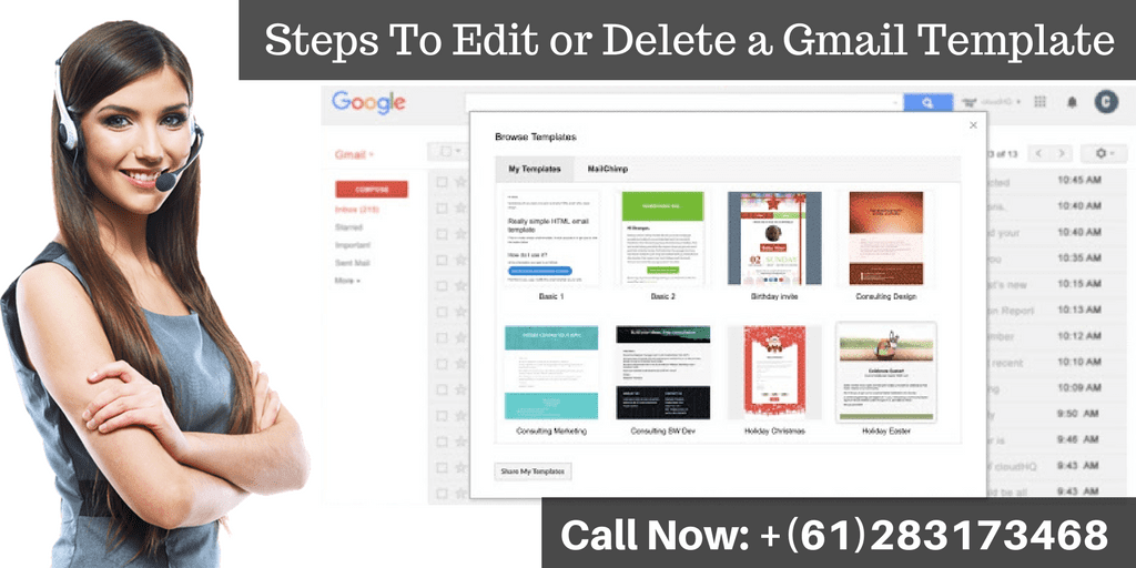 """If you want to know """"how to edit or delete a #GmailTemplate"""", then read this blog. If you would like to know more about this process, then contact #GmailTechnicalSupportNumber +(61)283173468 and get the relevant information."""