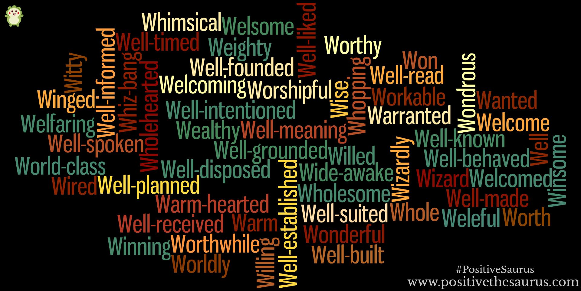 Positive adjectives that start with W Positive