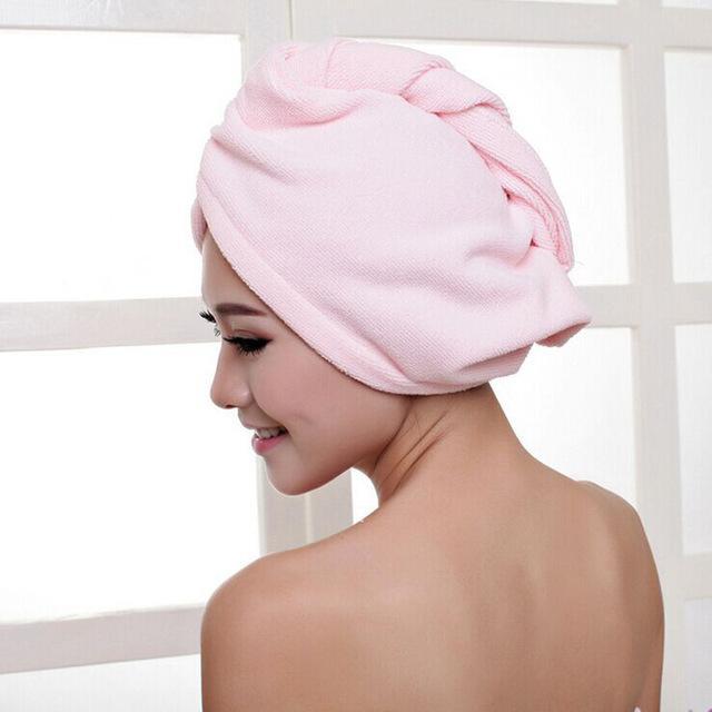 Microfiber Towel Quick Dry Hair Magic Drying Turban Wrap Caps Hat Spa Bathing