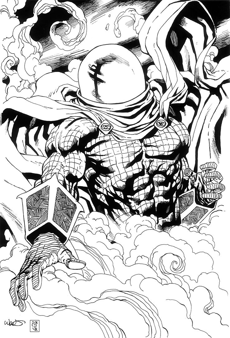 mysterio spiderman coloring pages - photo#13