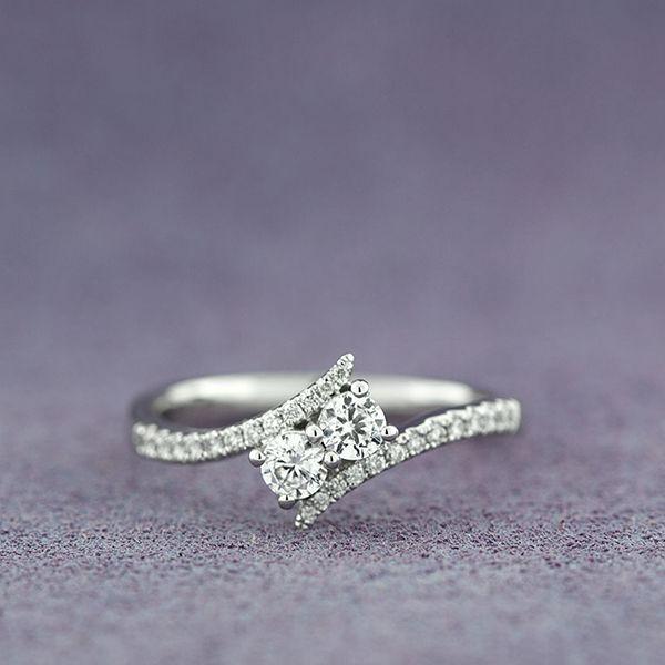Ever Us 2 Stone Diamond Ring Featuring Signature Forevermark Diamonds 18k Wedding Rings Engagement Best Engagement Rings Stone Engagement Rings