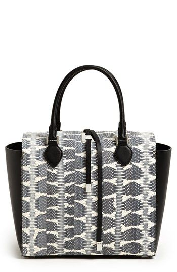 d79cf100507c Michael Kors 'Miranda - Large' Genuine Snakeskin and Leather Tote available  at #Nordstrom