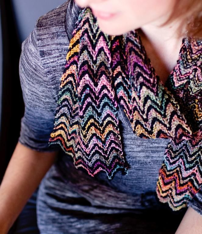 Fruit Stripes Scarf knitting pattern
