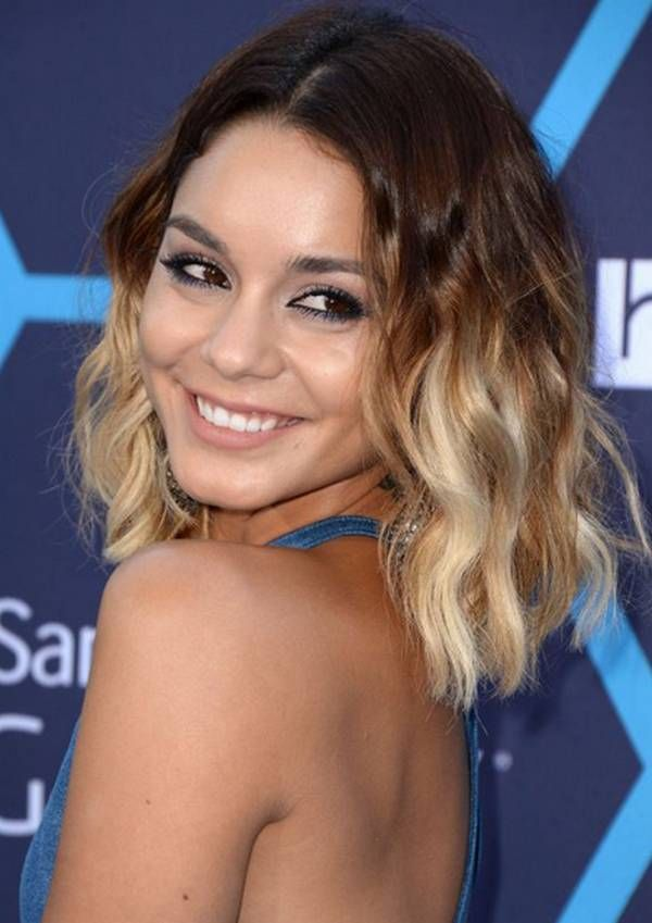 dip dye short hair styles hudgens tie and dye blond hairstyle 3959 | 1ba3fb96825029c00ec505f21b97eb13