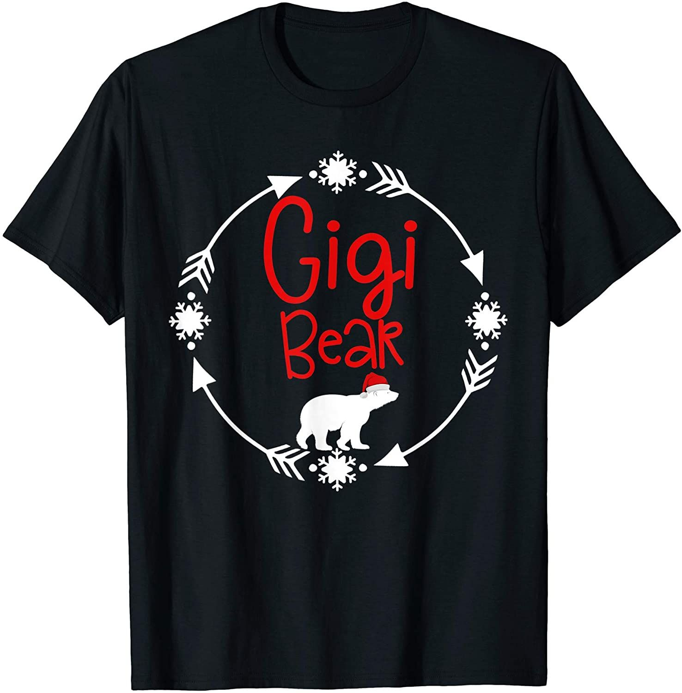 Gigi Christmas Bear Santa Gift Family Matching Pajamas T