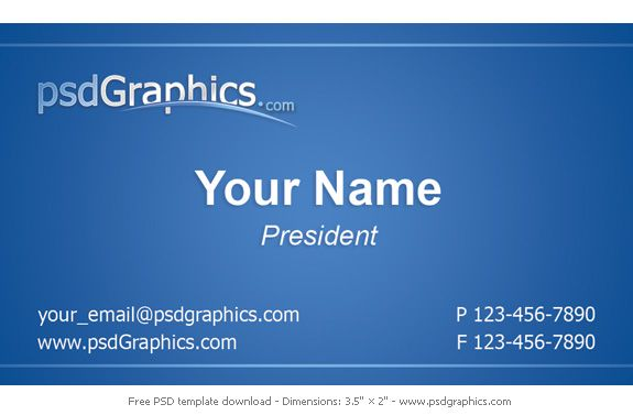 Simple and elegant FREE Blue Business Cards Design, print ready - name card format