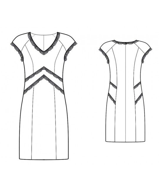 Made To Measure Sewing Patterns - Lace-trim Cap Sleeve Dress | I ...