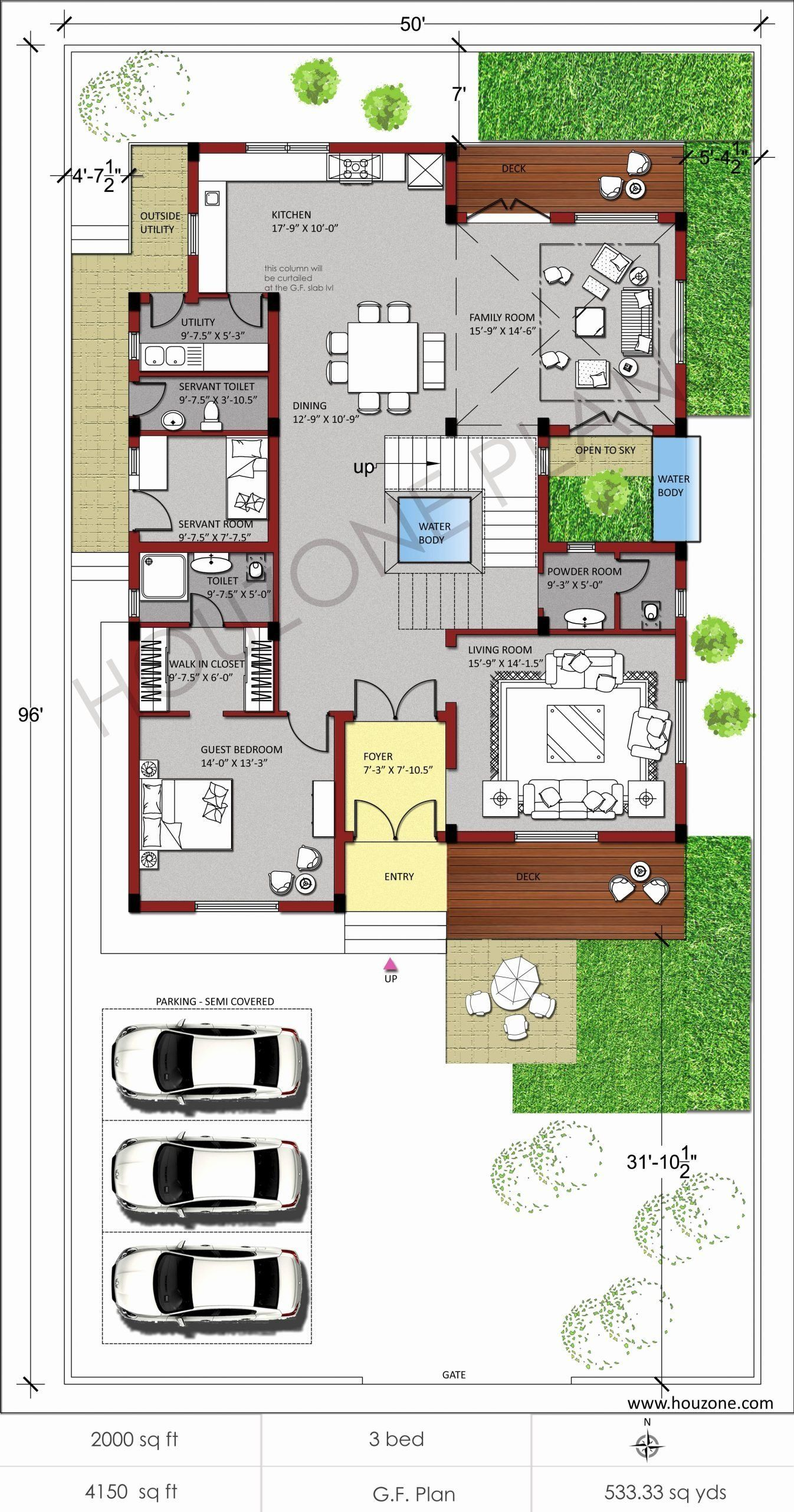 2000 Square Feet Home Design Elegant 20 Inspirational Floor Plan For 2bhk House In India Beautiful House Plans Duplex House Plans Vastu House