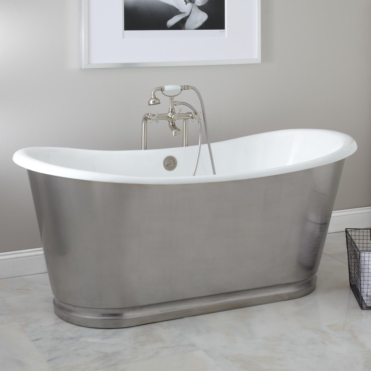 66 Dorset Bateau Cast Iron Skirted Tub Stainless Steel Skirt Amazing Price For This Kind Of 4000