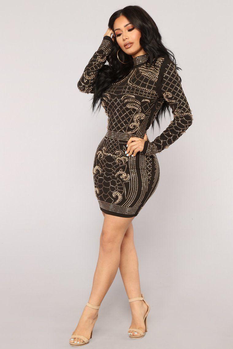 Brightest Gem Dress Black [ 1140 x 760 Pixel ]