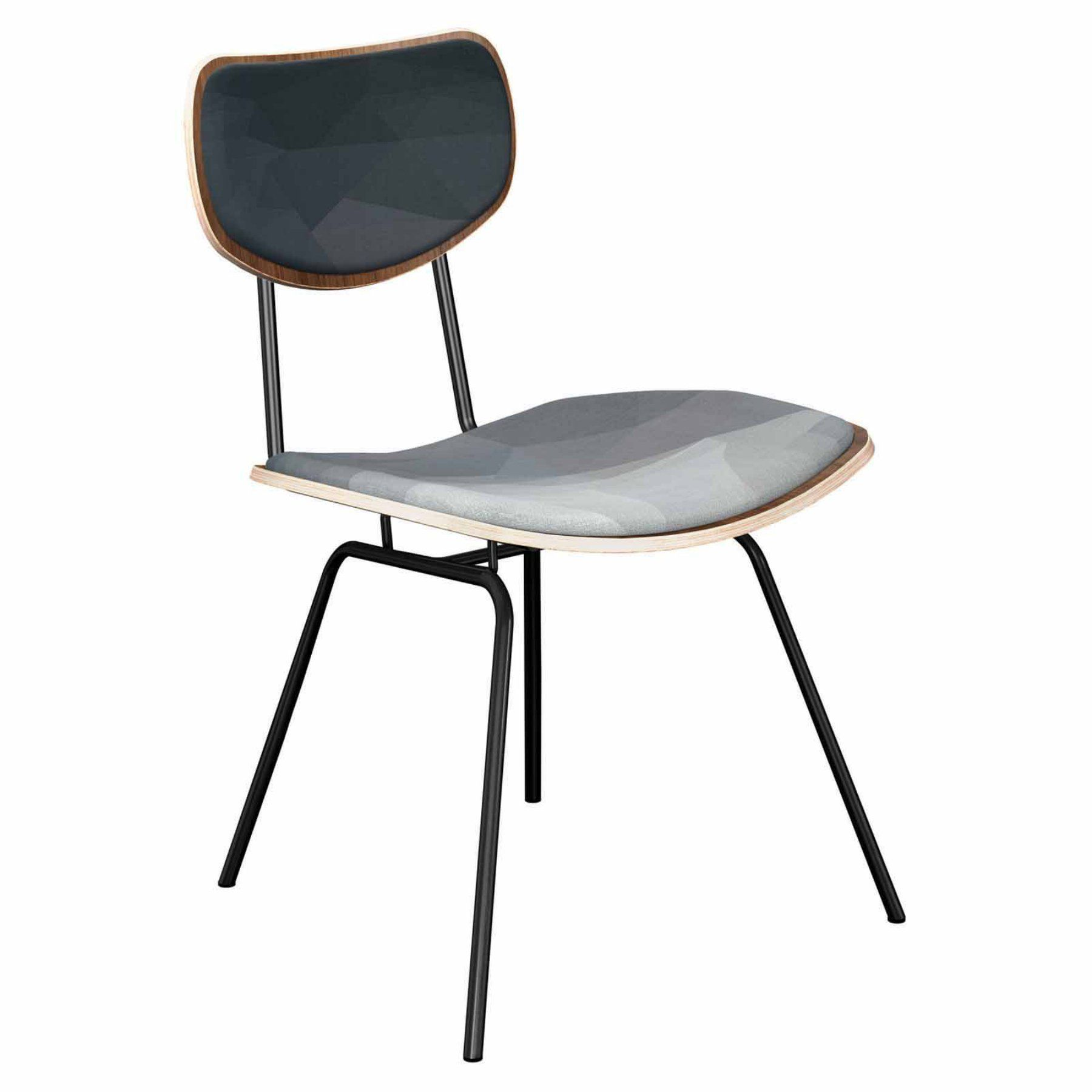Nyekoncept Harvey Midnight Topography Classroom Dining Chair  16001040